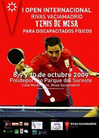 Cartel del I Open Internacional de Tenis de Mesa