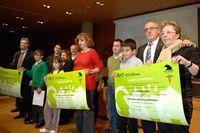 Los firmantes del acuerdo Agenda 21 Escolar.