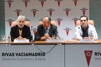 Antonio Rojas, Manuel Mota y Carlos Sánchez de Pedro en el IFIE de Rivas-Vaciamadrid.