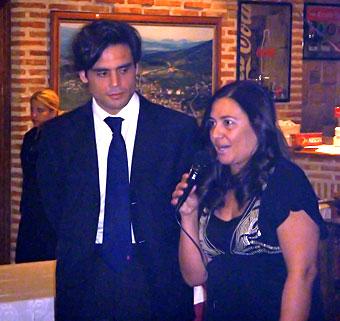 Juan José Guemes y Marisa del Olmo en la cena de Navidad del PP.