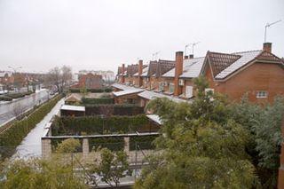 Nieve en Rivas-Vaciamadrid.